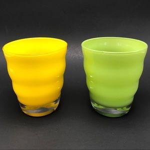 2 Dansk Rio Double Old Fashioned Glasses 10oz Wavy